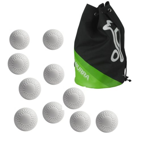 Bag of 30 White Dimple Hockey Balls