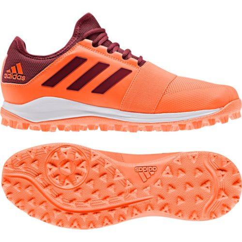 Adidas Divox Orange Hockey Shoes