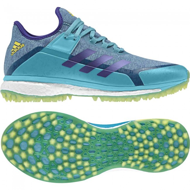 Adidas Fabela X Aqua Yellow Ladies Hockey Shoes