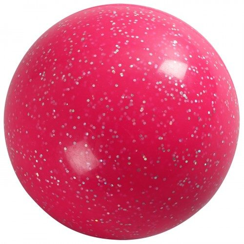 Glitter Hockey Ball Pink