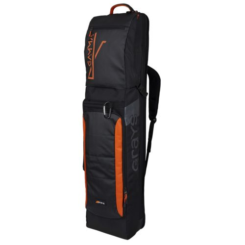 Grays Gamma Black Orange Hockey Stick & Kit Bag