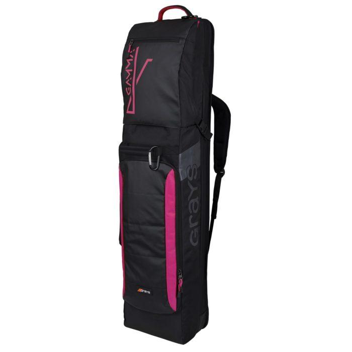 Grays Gamma Black Pink Hockey Stick and Kit Bag