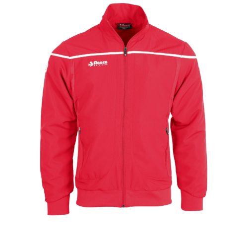 Reece Varsity Woven Jacket Unisex Red