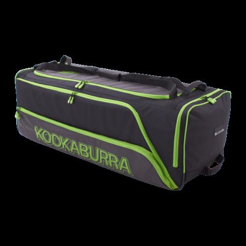 Kookaburra Pro 2.0 Black Lime Wheelie Cricket Bag