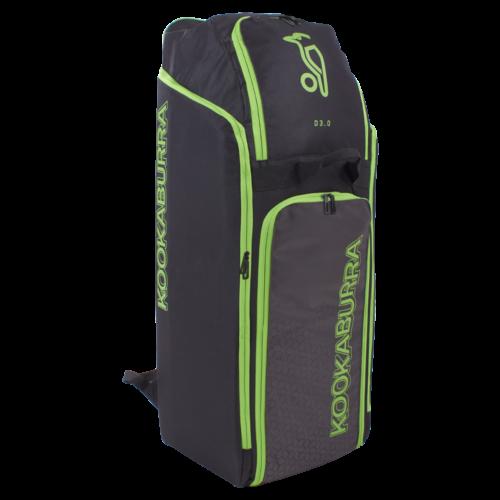 Kookaburra D3 Cricket Duffle Bag (Black Lime)