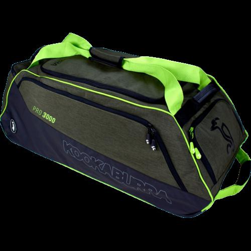 Kookaburra Pro 3000 Khaki Wheelie Cricket Bag