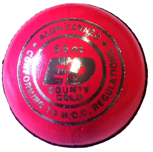 ED Sports County Gold Pink Cricket Ball