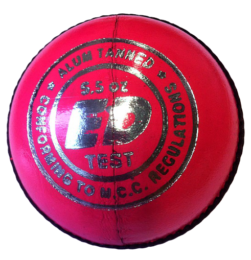 ED Sports Super Test Mens Pink Cricket Ball