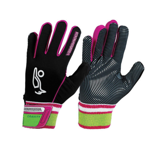 Kookaburra Gravity Hockey Gloves Black Pink