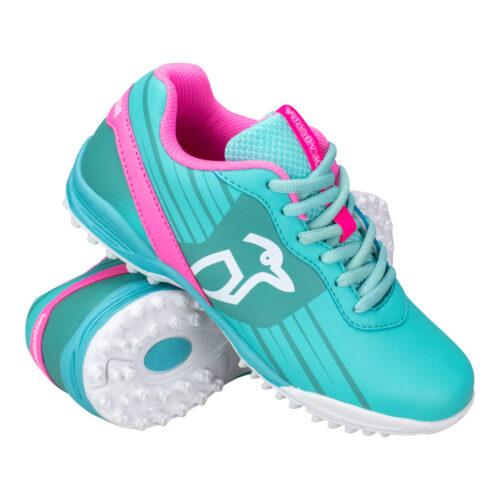Kookaburra Neon Junior Mint Hockey Shoes