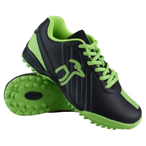 Kookaburra Neon Black Lime Junior Hockey Shoes