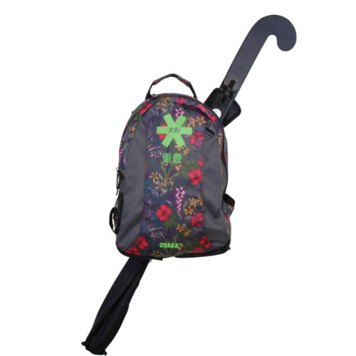 Osaka Junior Hockey Backpack - Grey Flowers Green