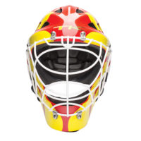 TK T1 Goalkeeping Helmet - Red\Yellow