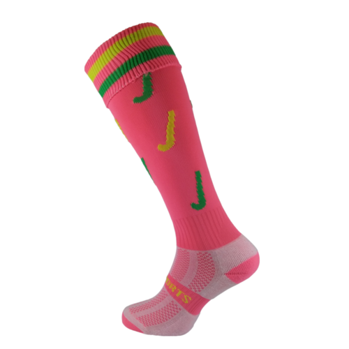Hockey Sticks Pink Socks