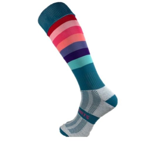 Cool Stripes Fun Hockey Socks