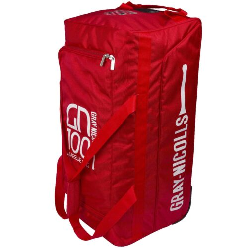 Gray Nicolls GN 100 Red Wheelie Cricket Bag