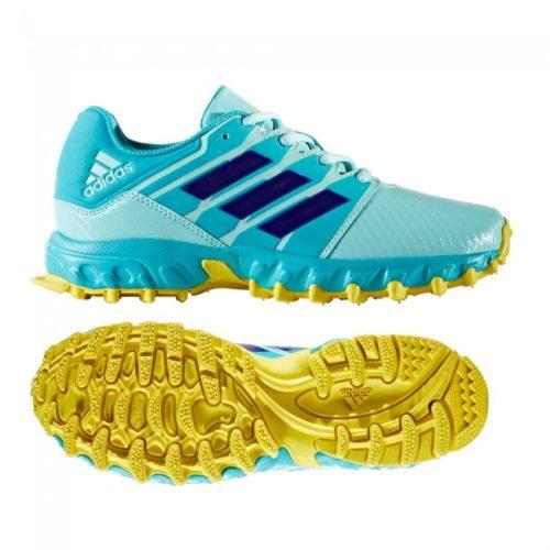 Adidas Junior Aqua Yellow Hockey Shoes