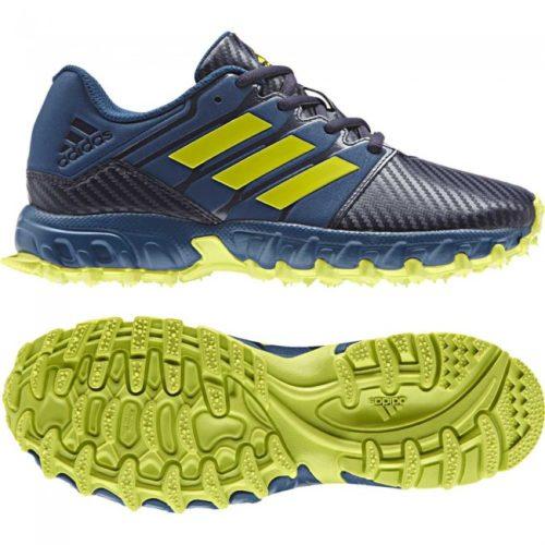 Adidas Junior Blue Yellow Hockey shoes
