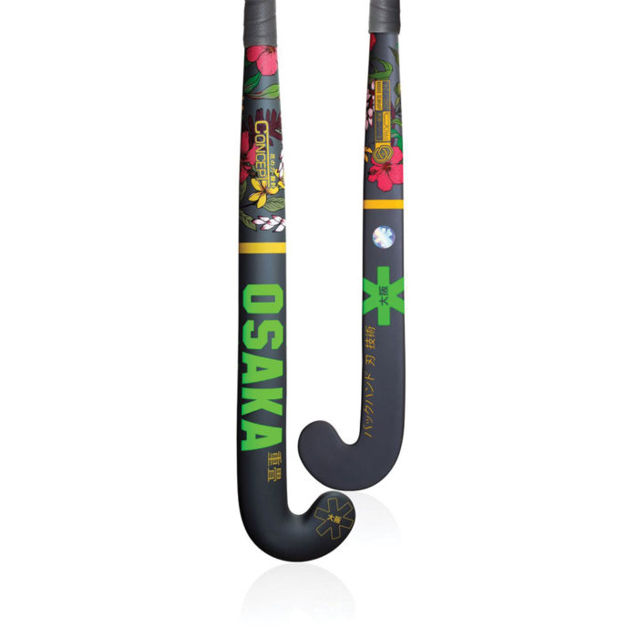 Osaka Concept Series Flower Power Green Pro Bow Hockey Stick