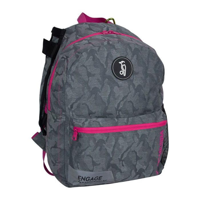 Kookaburra Engage Camo Grey Pink Hockey Rucksack
