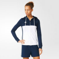 Adidas T16 Ladies Hooded Top Navy\White