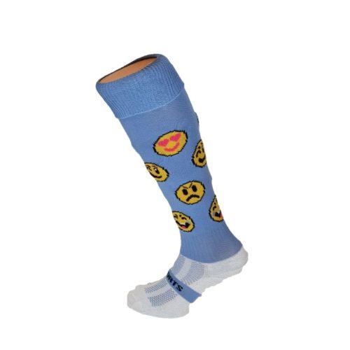 Funny Faces Blue Hockey Socks