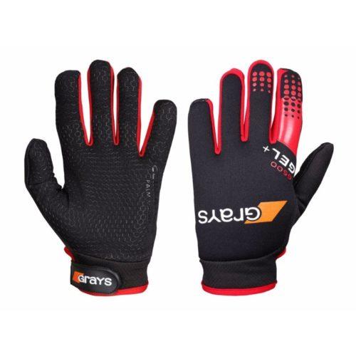 Grays G500 Gel Hockey Gloves Black\Red