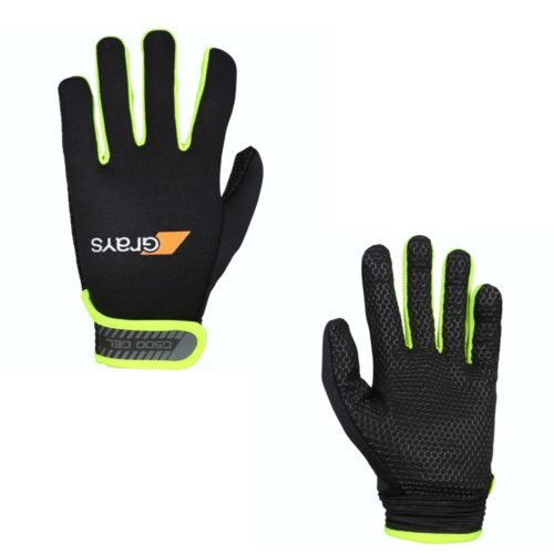 Grays G500 Gel Hockey Gloves Black Fluo