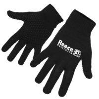 Reece Knitted Black Hockey Gloves