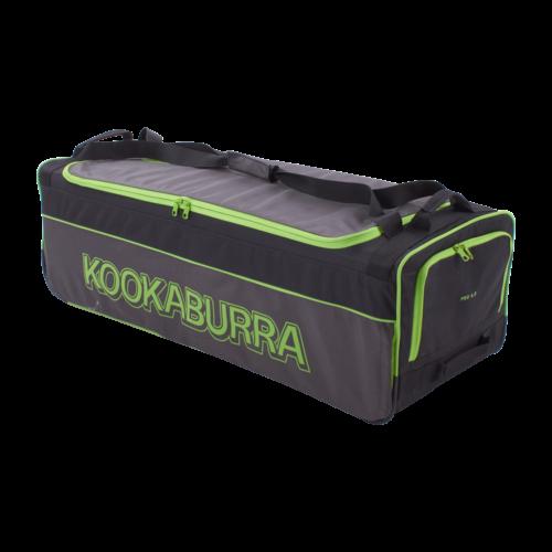 Kookaburra 4.0 Black Lime Wheelie Cricket Bag