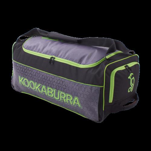 Kookaburra 5.0 Black Lime Wheelie Cricket Bag