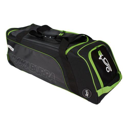 Kookaburra Pro 2400 Wheelie Cricket Bag - Black/Green