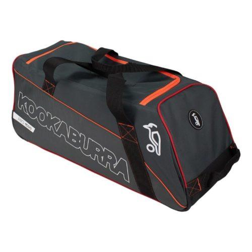 Kookaburra Pro 1500 Wheelie Cricket Bag - Grey/Orange