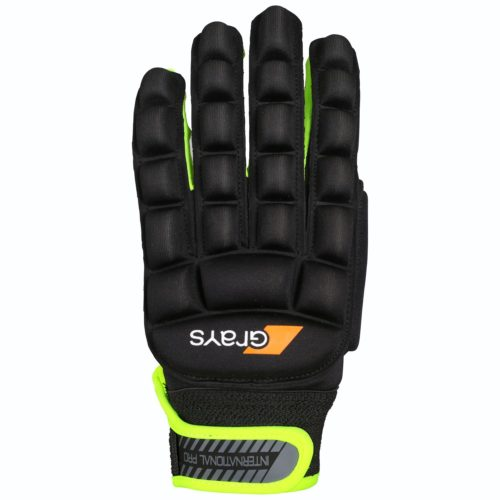 Grays International Pro Left Hand Hockey Glove Black Fluo
