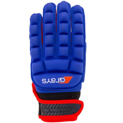 Grays International Pro Left Hand Hockey Glove Blue Red