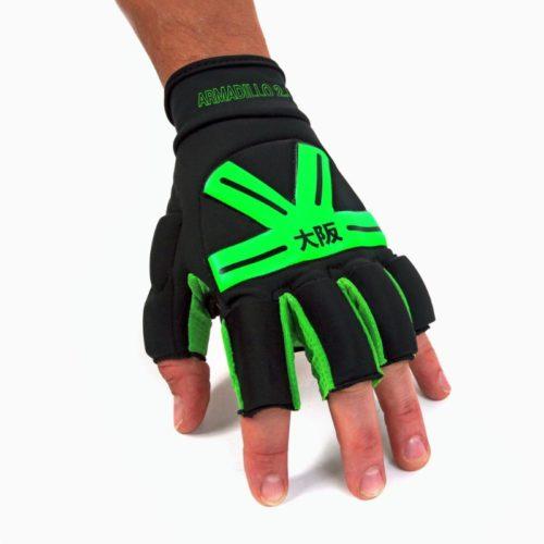 Osaka Armadillo Hockey Glove - Black Green