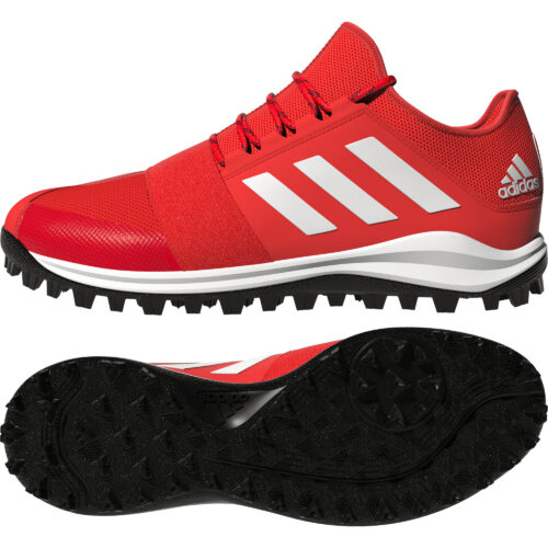 Adidas Divox Red Hockey Shoes