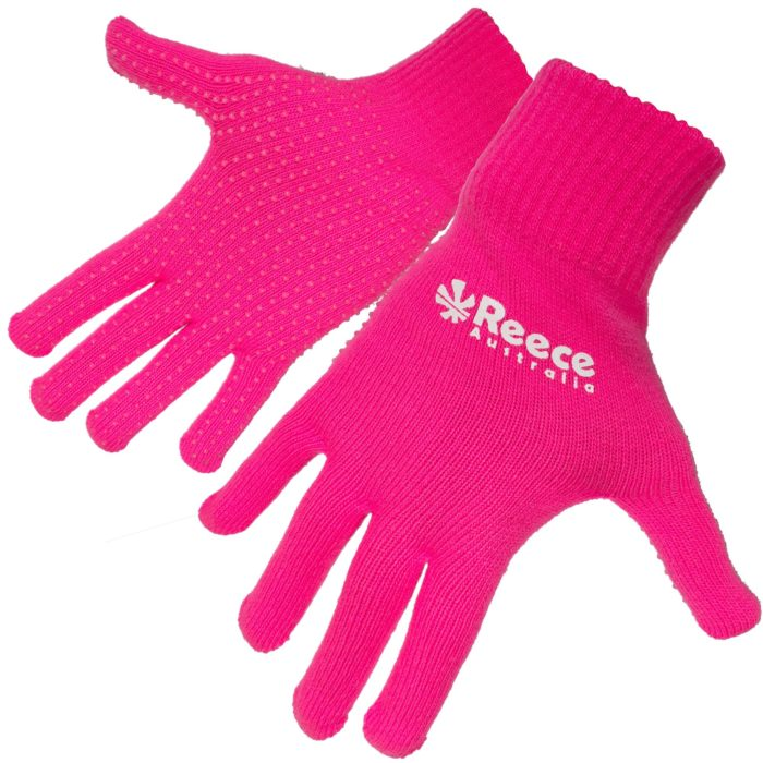 Reece Knitted Pink Hockey Gloves