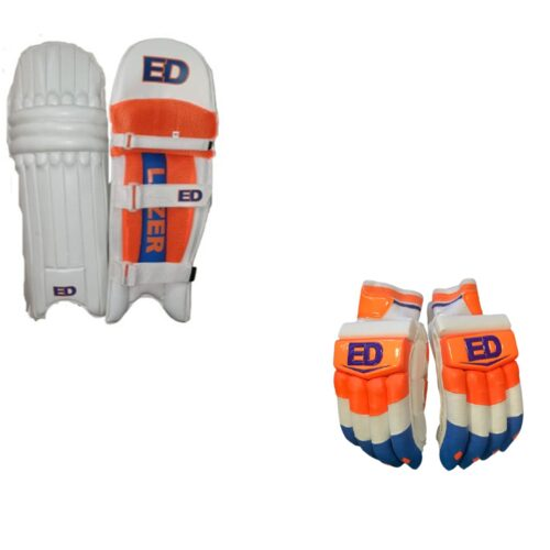 ED Sports Lazer Cricket Pads and Gloves Set