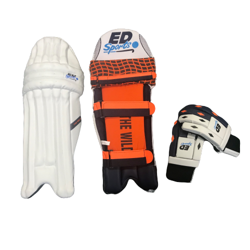 ED Sports Junior Wild 1.0 Cricket Pads and Gloves Set