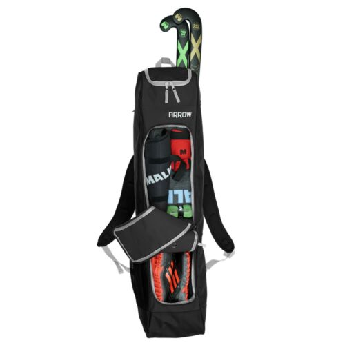 Malik Arrow Black Hockey Bag