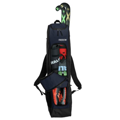 Malik Arrow Navy Black Hockey Bag