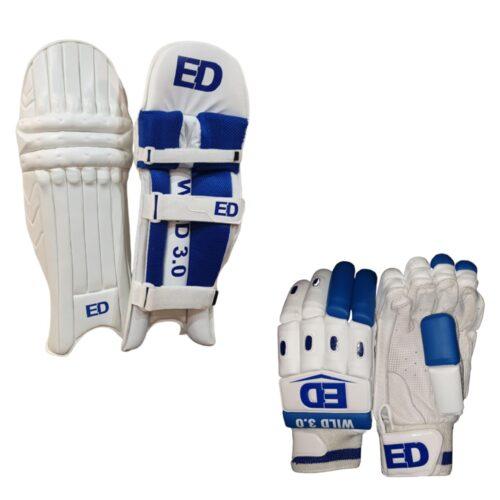 Wild Cricket Batting Pads & Gloves Set
