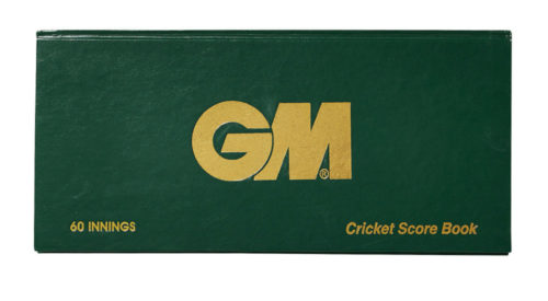 Gunn and Moore 60 innings Cricket Scorebook
