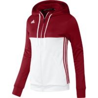 Adidas T16 Ladies Hooded Top Red\White