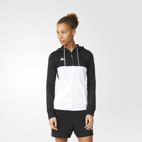 Adidas T16 Ladies Hooded Top Black\White