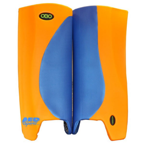 OBO Robo Hi-Rebound Legguards Orange Wing Blue