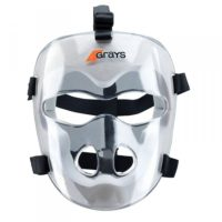 Gray Hockey Players Facemask - Set of 4
