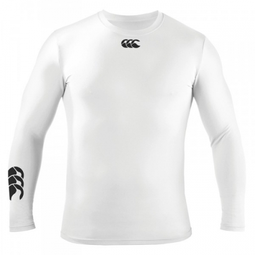 Canterbury Cold long sleeve baselayer (JNR): White