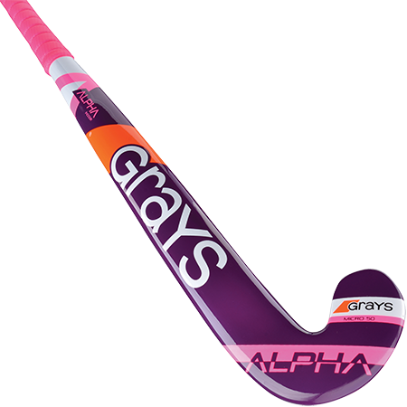 Grays Alpha Ultrabow Junior Wooden Hockey Stick - Purple\ Pink